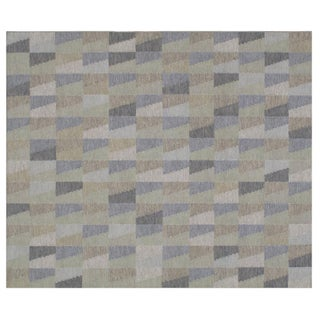 Stark Studio Rugs Contemporary Flat Woven Rug - 9' X 12' For Sale