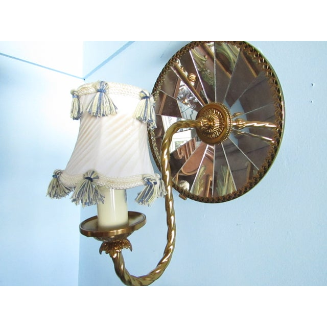 Mirrored Wall Sconces - A Pair - Image 4 of 7