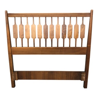 1960s Mid-Century Modern Drexel Declaration Twin Bed Headboard