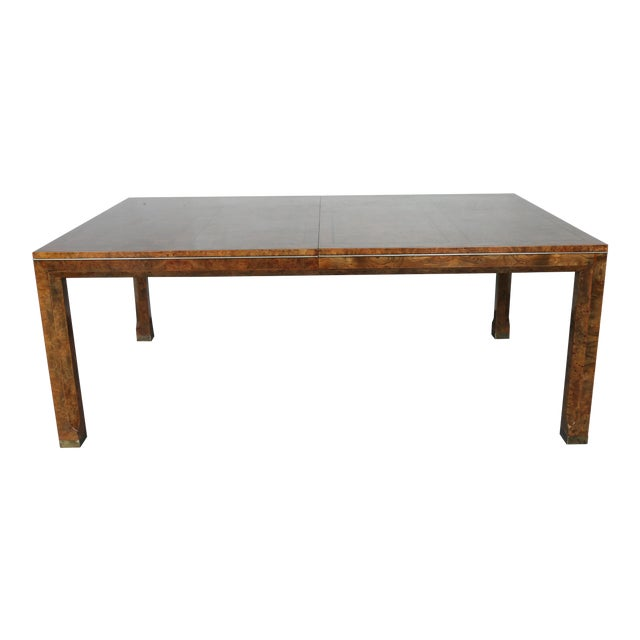 Master Burlwood Dining Table - Image 1 of 11