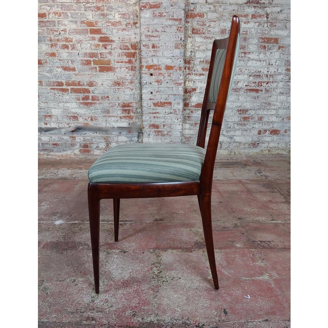 Mahogany Vintage Italian Art Deco Mahogany Dining Chairs - Set of 6 For Sale - Image 7 of 10