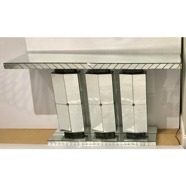 Maitland Smith Modern Mirrored Console Table For Sale - Image 12 of 12