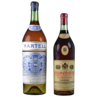 Vintage Store Display Cognac Bottles - A Pair For Sale