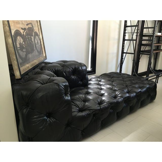 Soho Tufted Leather Left-Arm Chaise Sectional - Image 3 of 3