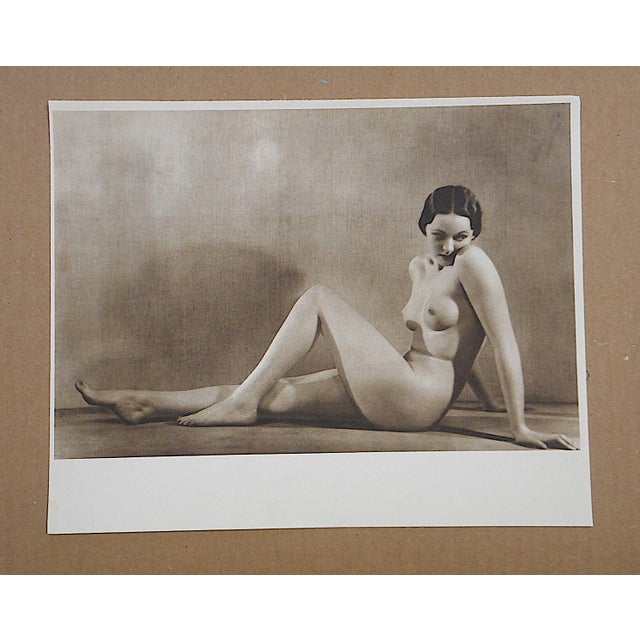 We recently had the good fortune to locate and acquire another portfolio of these captivating vintage nude photogravures...