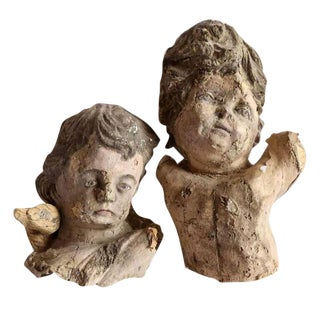 Pair of Papier Mâché Angels For Sale