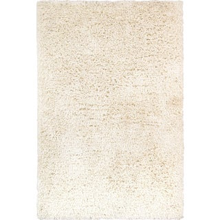 Pasargad's Ivory Shaggy Area Rug - 9' X 12' For Sale