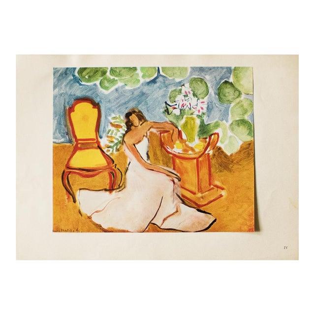 "1946 Henri Matisse, ""Girl in the White Dress"" Original Parisian Period Lithograph For Sale"