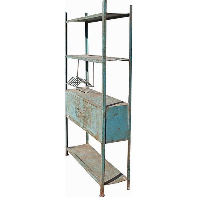 2-Door Blue Vintage Iron Rack - Image 1 of 5