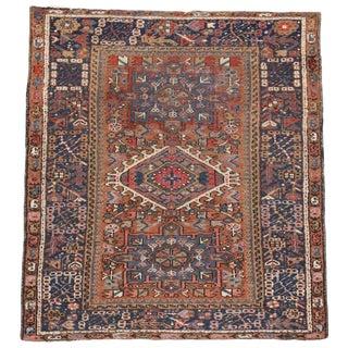 Antique Persian Heriz Rug, Study or Home Office Worn Rug