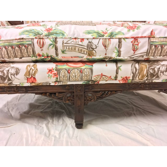 1930s Chinoiserie Carved Pagoda Settee - Image 6 of 9
