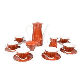1950's Hvm Hansa Porcelain Coffee Service- 15 Pieces For Sale