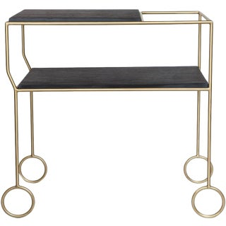 Biron Slate Top Bar Cart For Sale