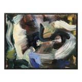 Image of Framed Petite Abstract Painting For Sale