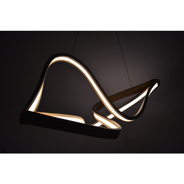 Not Yet Made - Made To Order Tangle Curved Wooden Pendant Light With Intertangled Arms For Sale - Image 5 of 7