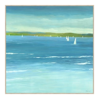 Sails on the Horizon II Print Framed Kenneth Ludwig Chicago For Sale