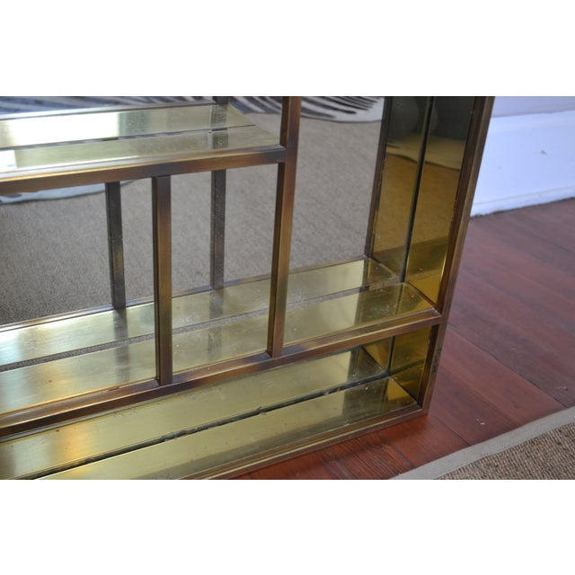 Signed Curtis Jere Brass Mirrored Shelf - Image 4 of 5
