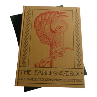 Vintage Classic Fables of Aesop Book With Case For Sale