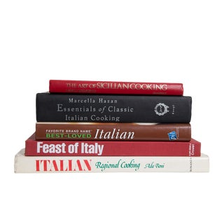 Taste of Little Italy Cook Book Set, (S/5) For Sale