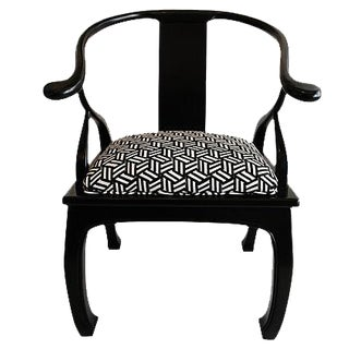 Black Lacquered Ming- Style Chair For Sale