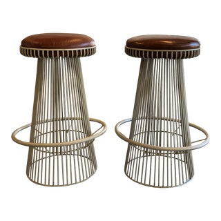 Mid Century Modern Barstools- A Pair For Sale