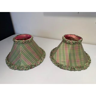 Lee Jofa Silk Plaid Green and Pink Lamp Shade Preview