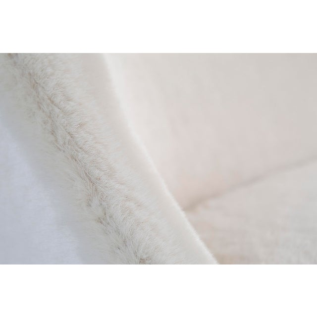 Faux Fur Settee by Lawrence Peabody - Image 7 of 10