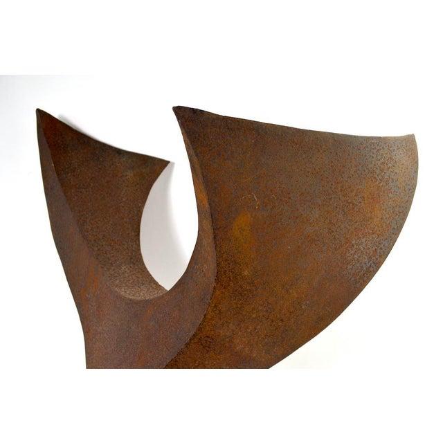 Brown Brutalist Sculpture by Noted Artist Jack Hemenway For Sale - Image 8 of 13