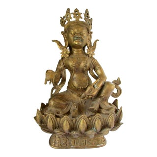 Early 20th Century Asian Bronze Chinese Tibetan Buddha Sculpture