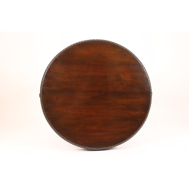 English Neo Classical Style Mahogany Center Table For Sale - Image 10 of 13