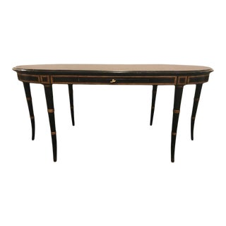 Hollywood Regency Style Faux Bamboo Coffee Table