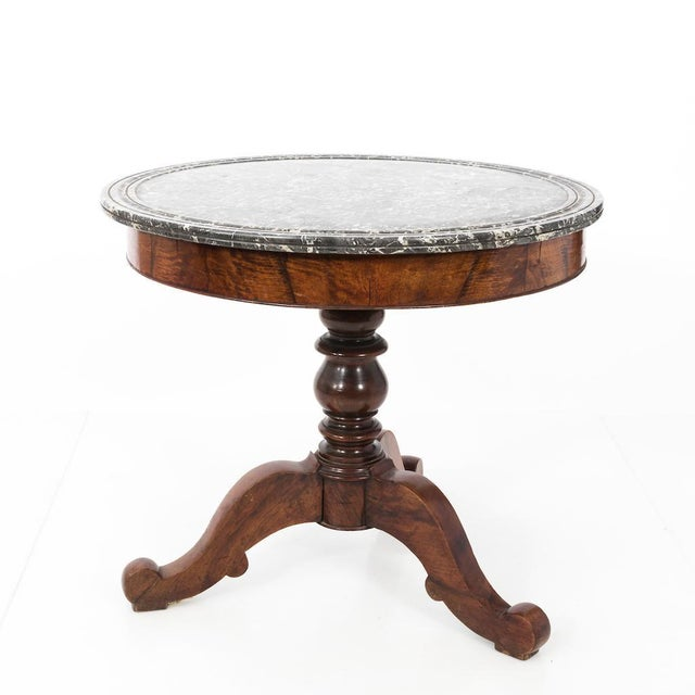 Antique French Second Empire Round Pedestal Table For Sale - Image 10 of 10