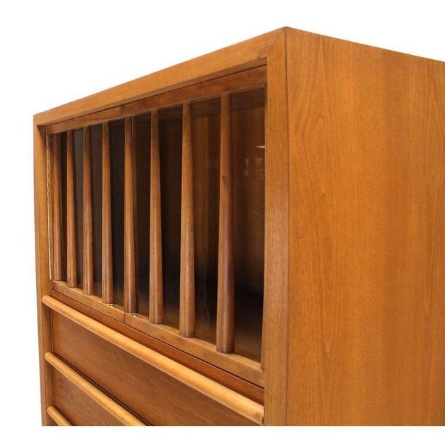 Mid 20th Century Large Robsjohn-Gibbings Dresser Secretary w Bookcase For Sale - Image 5 of 9