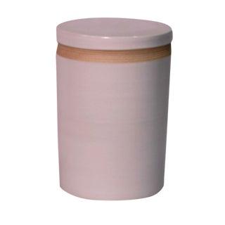 Matte White Cylinder Stool