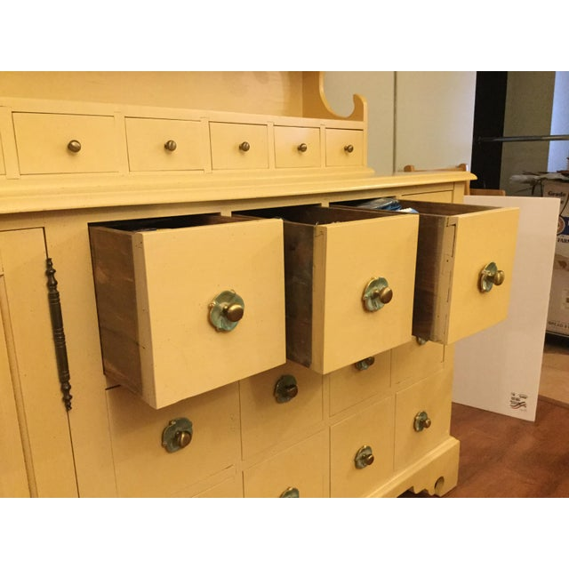 """Vintage Farmhouse """"Breakfront', """"Open Hutch Sideboard' For Sale In Miami - Image 6 of 13"""