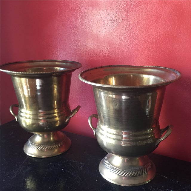Petite Brass Champagne Buckets - A Pair - Image 4 of 6