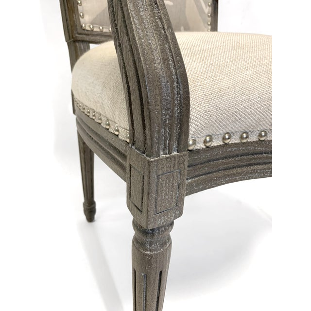 2010s Palecek Lion Square Back Arm Chair For Sale - Image 5 of 10