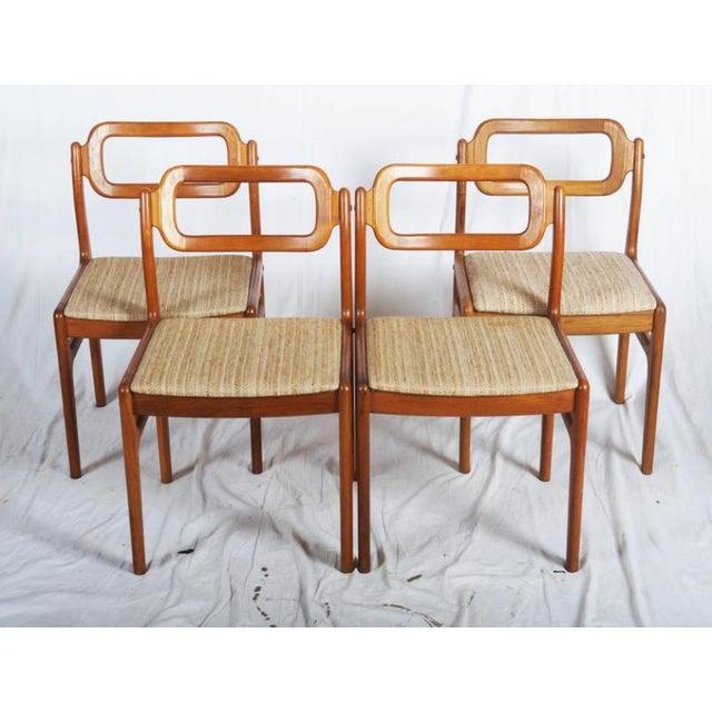 Danish Modern Danish Teak Chairs by Uldum Møbelfabrik, 1960s - Set of 4 For Sale - Image 3 of 11