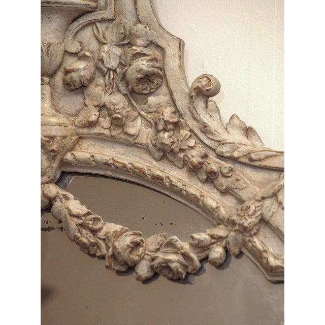 Painted Louis XVI Style Mirror For Sale In New Orleans - Image 6 of 8