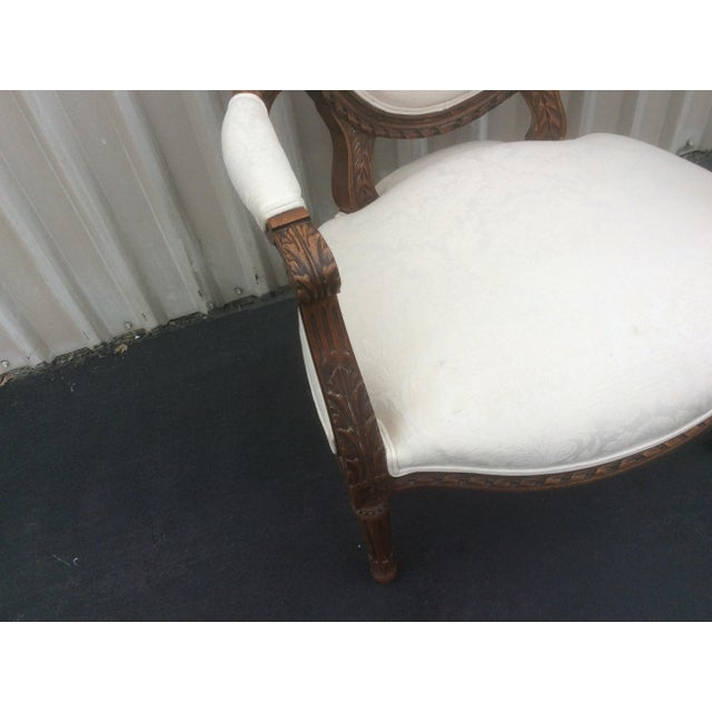American Classical French Style Chair With Oval Back For Sale - Image 3 of 7