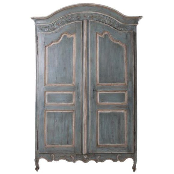 French Early 19th Century Painted Cherry Armoire - Image 1 of 10