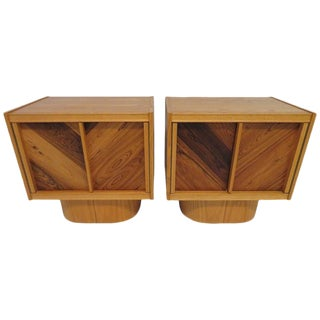 1960s Mid Century Modern Tiki Nightstands - a Pair For Sale