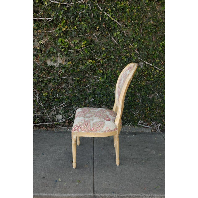 Louis XVI Style Paisley Side Chairs - a Pair For Sale - Image 4 of 7