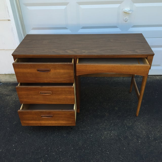 Mid-Century Walnut Writing Desk by Lane Furniture - Image 3 of 11
