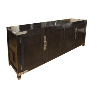 Mid Century Modern Greek Key Cabinet/ Buffet