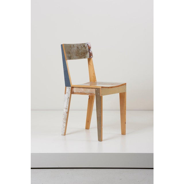 Set of Four Lacquered Oak Chairs in Scrapwood by Piet Hein Eek For Sale - Image 6 of 13