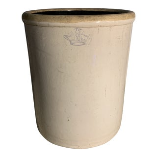 Vintage Earthenware Pickling Jar For Sale