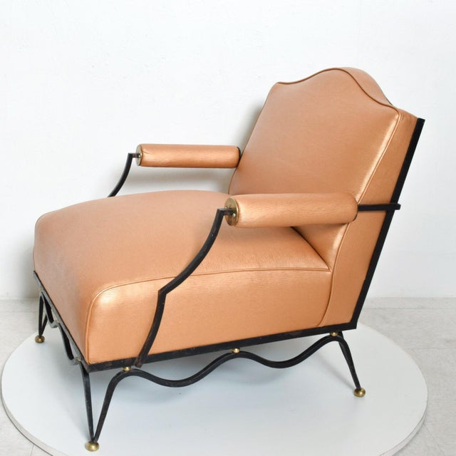 1940s French Neoclassical Revival Mexican Modernist Arm Chairs Attr Arturo Pani - a Pair For Sale - Image 5 of 12