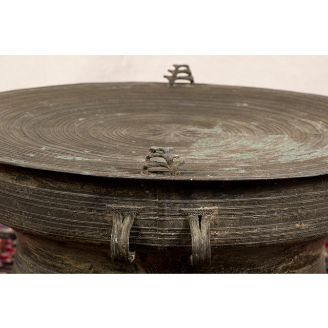 South Asian Bronze Rain Drum Table For Sale In New York - Image 6 of 9