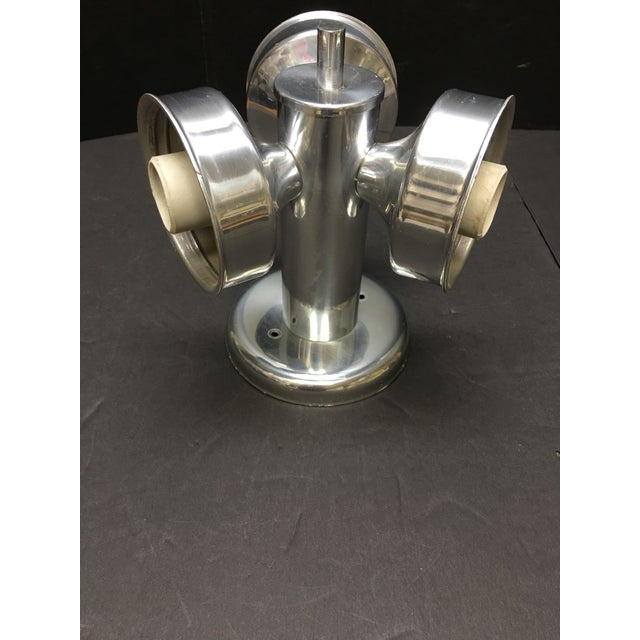 Mid-Century Modern 1960s Mid Century Modern Three Globe Chrome Ceiling Light For Sale - Image 3 of 5